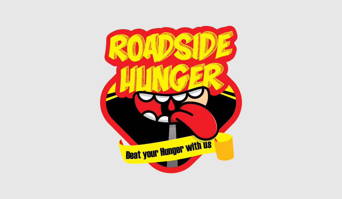 road side hunger logo design