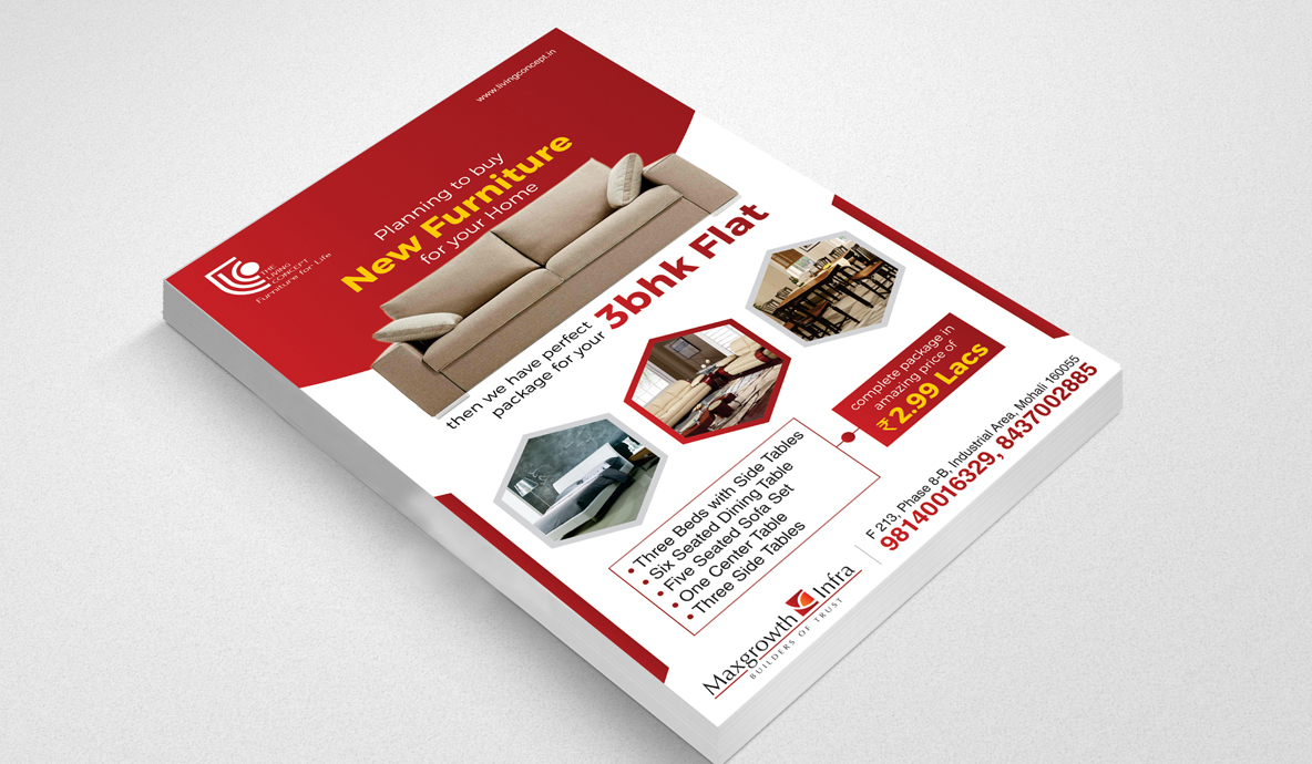 One Page Flyer Mockup Design