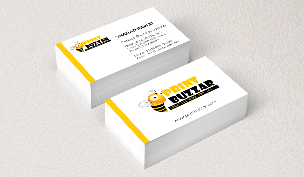 Print Buzzer Business Card Brand Collateral Design