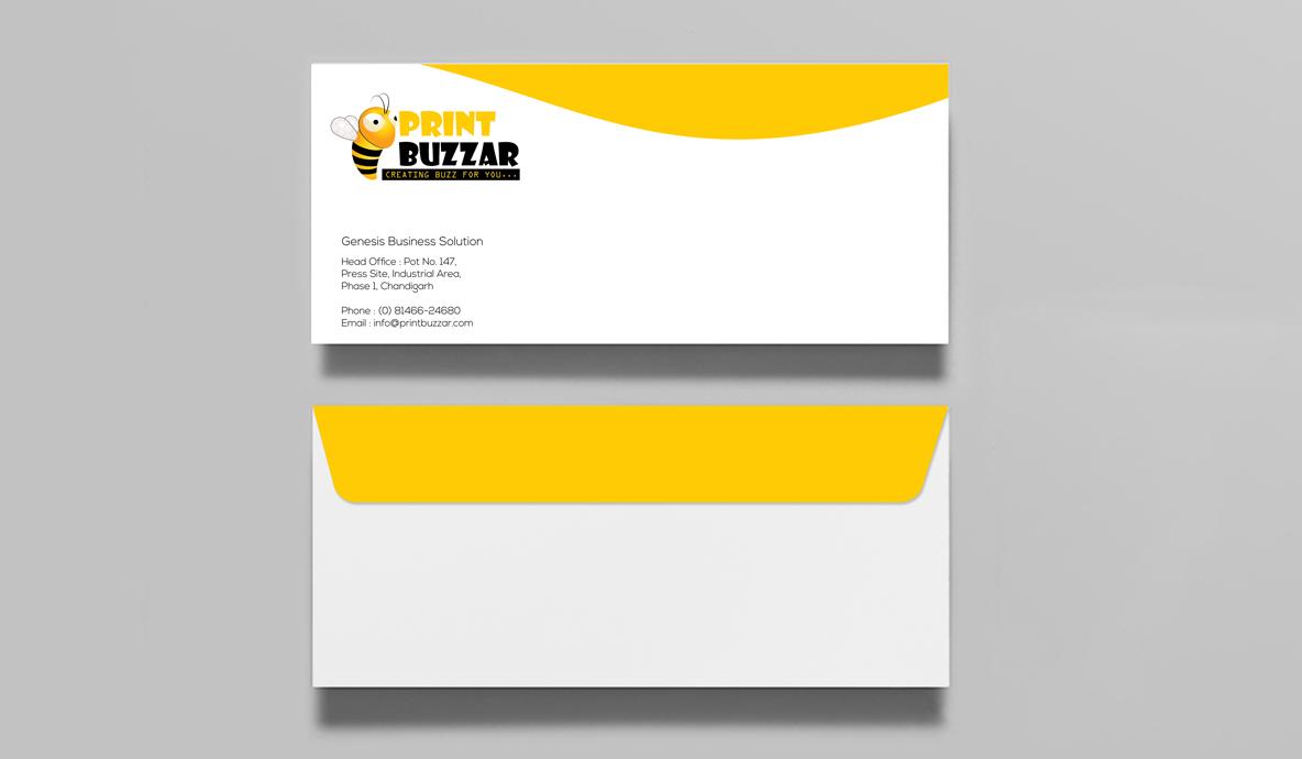 Print Buzzer Envelop Brand Collateral Design