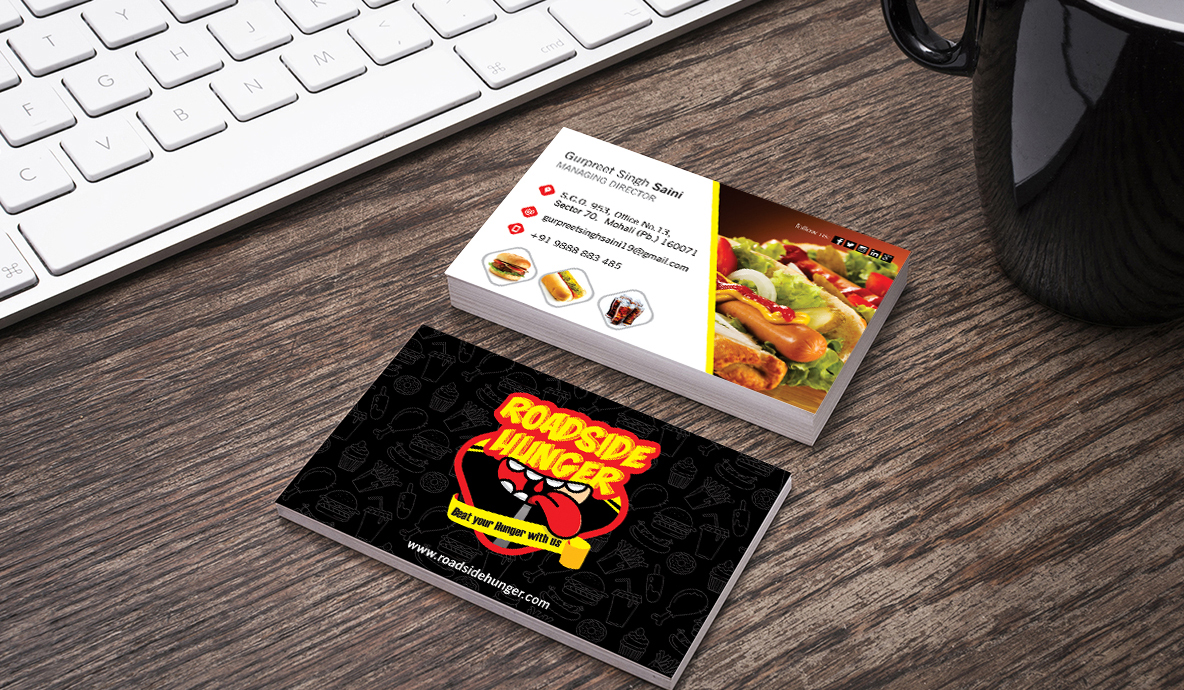 Road Side Hunger Business Card Brand Collateral Design