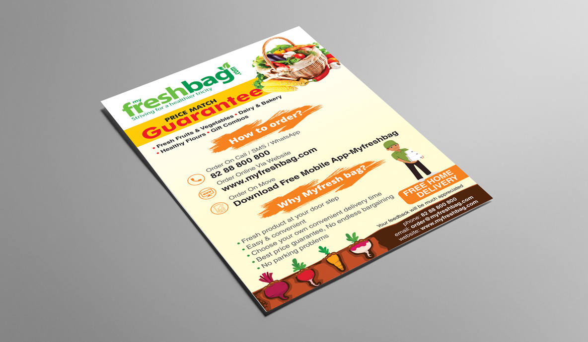 my fresh bag flyer mockup