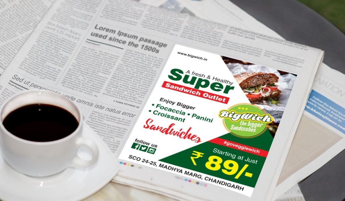 Super Sandwich Print Ad Campaign