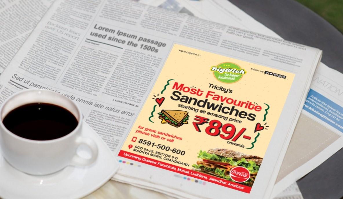 Bigwich Print Ad Campain