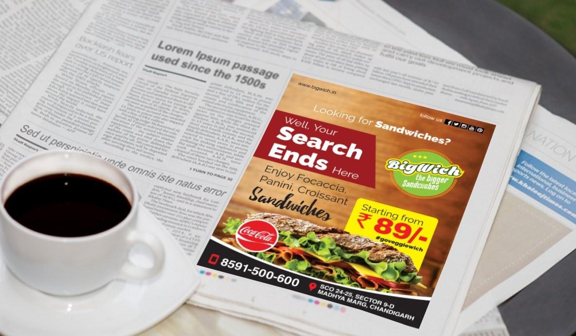 Bigwich Sandwich Print Ad Campaign