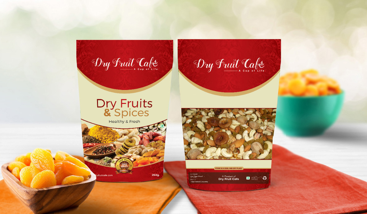 Dry Fruit Café Packaging
