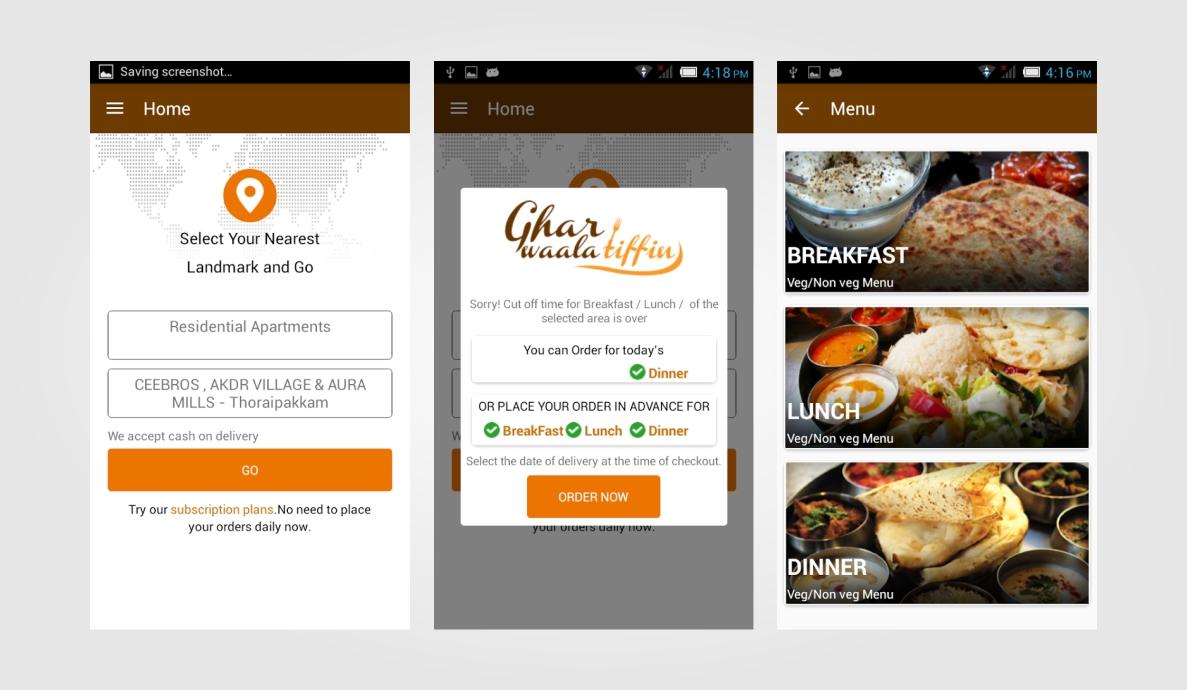 Ghar Waala Tiffin Android App Development