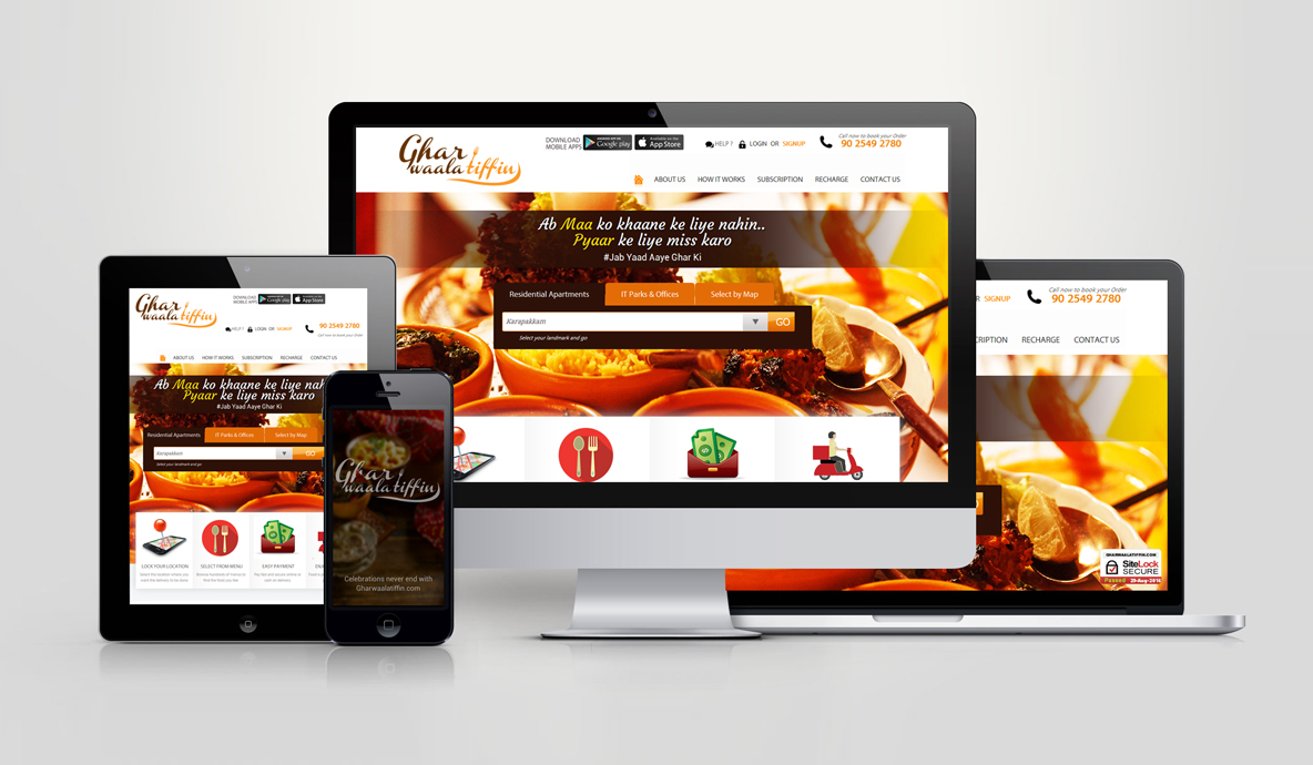 Ghar Vala Tiffin Dynamic Website