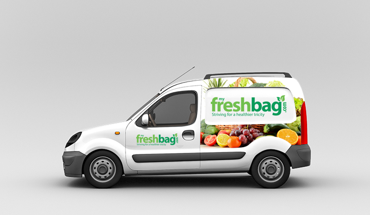 my fresh bag car branding mockup