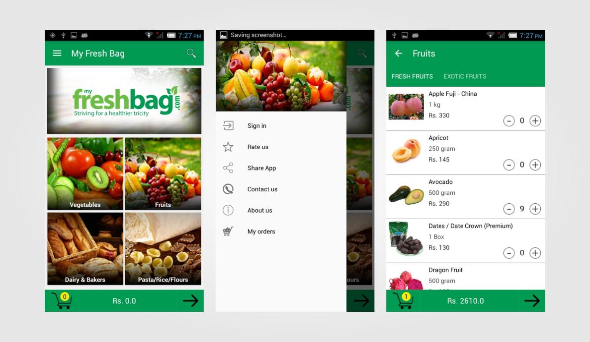 My Fresh Bag Native App