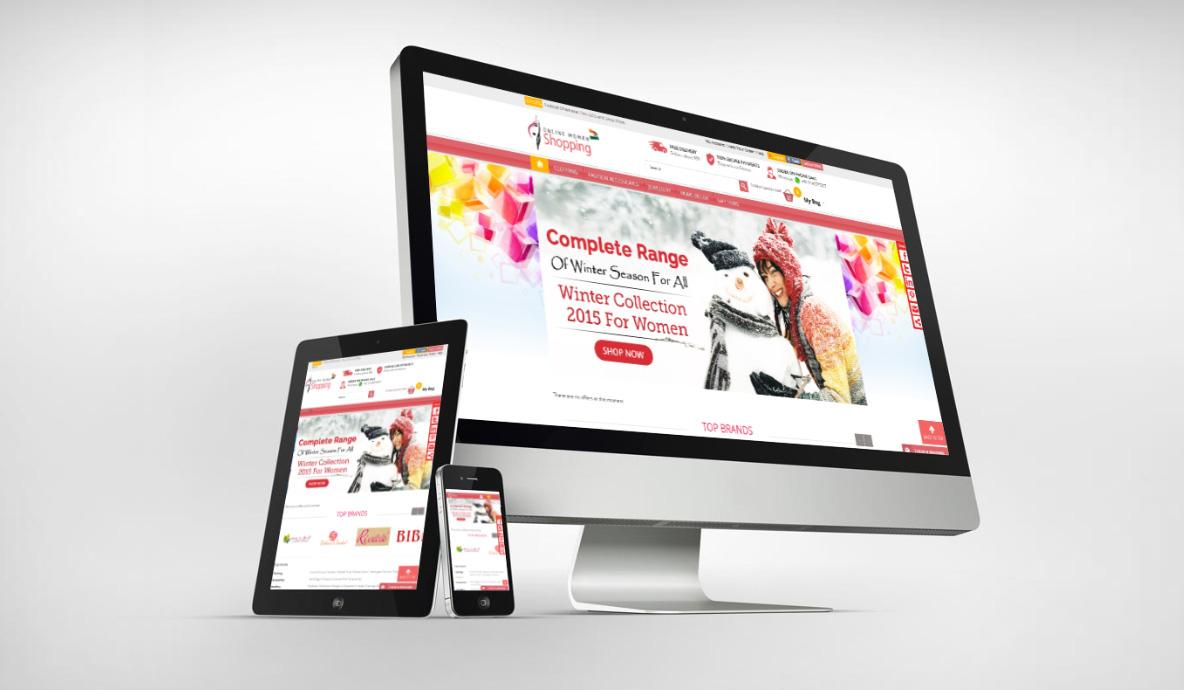 Online Woman Shopping
