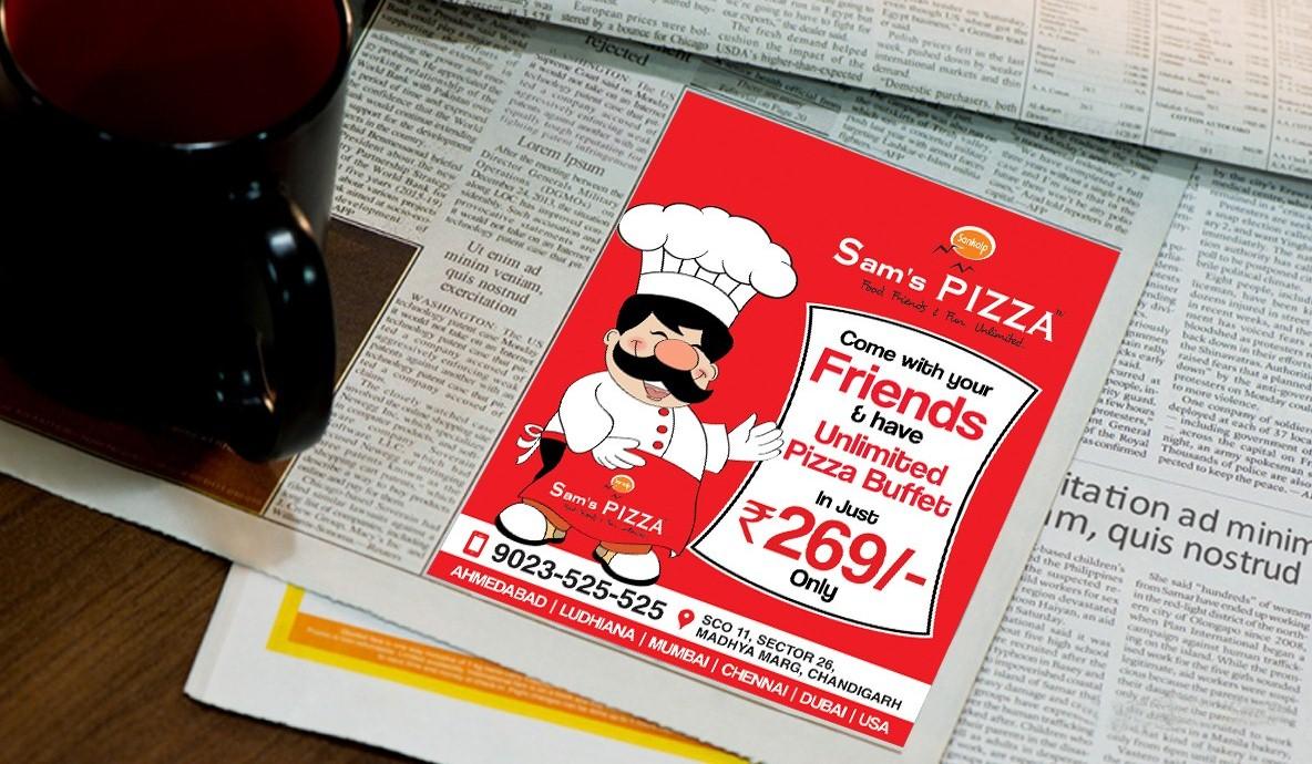 Pizza Buffet Print Ad Campaign