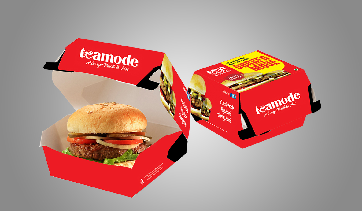 Teamode Burger Packaging Design