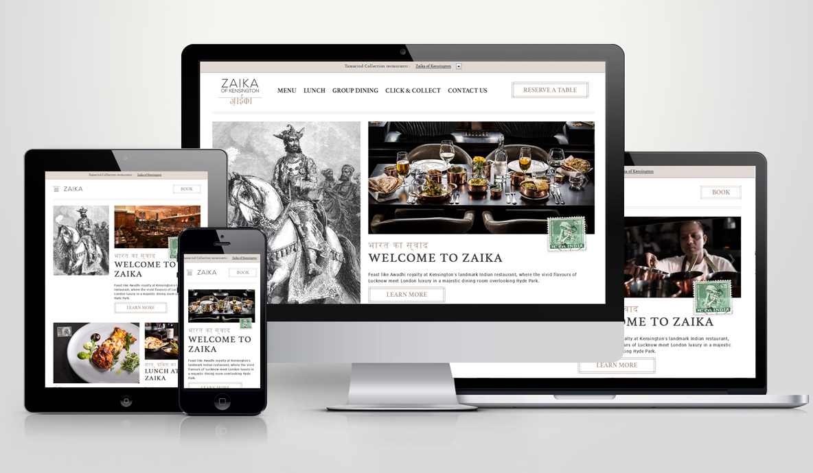 Zaika Responsive Website