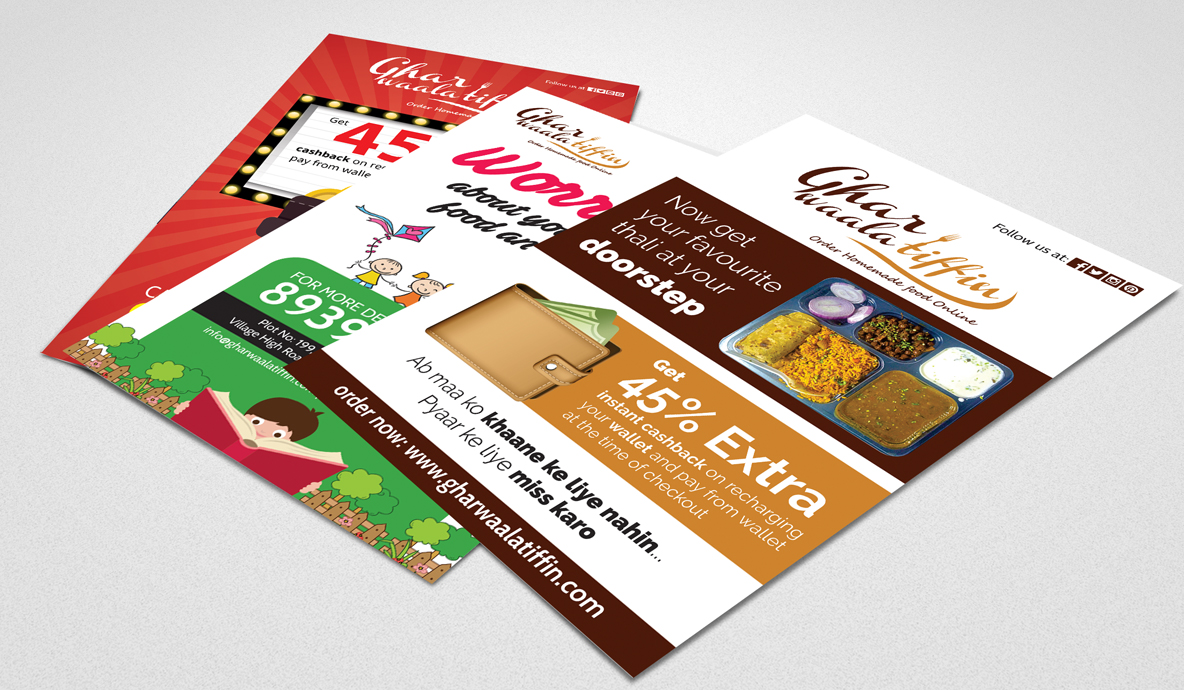 Ghar Waala Tiffin Flyer Designs