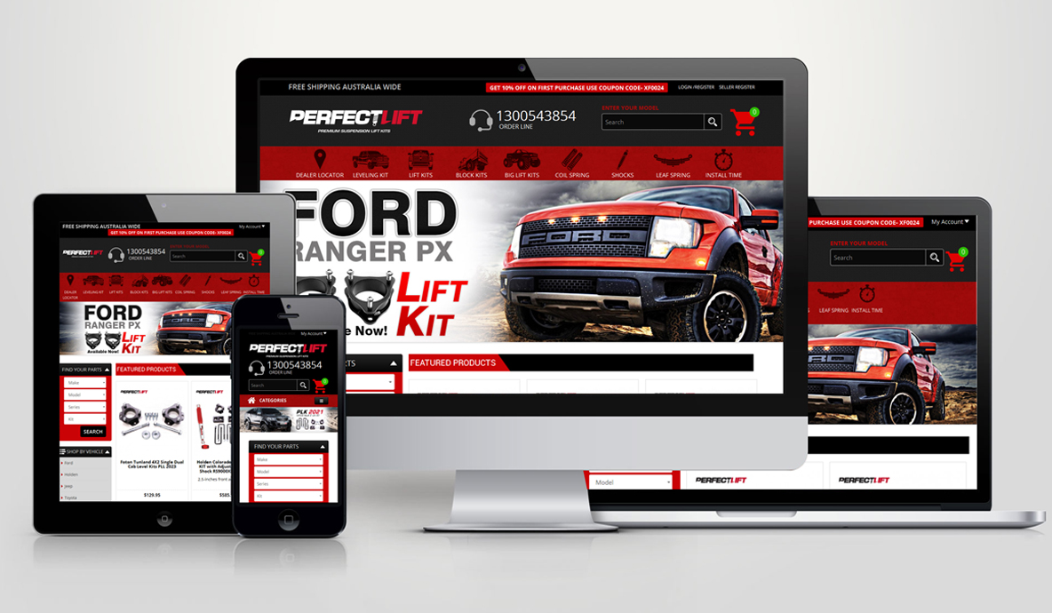 Perfect Lift Website Design