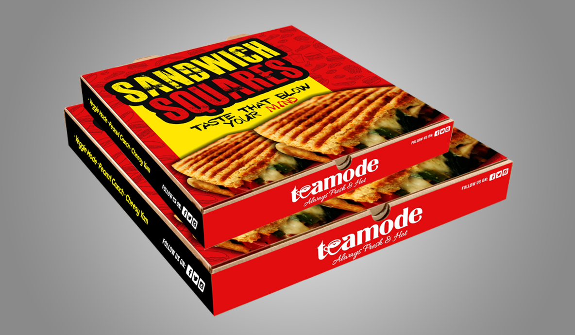 Teamode Sandwich Packaging Design Portfolio