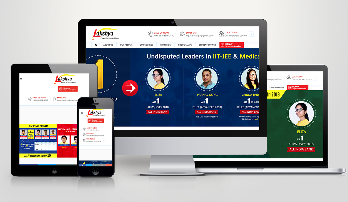 Lakshya Website Design