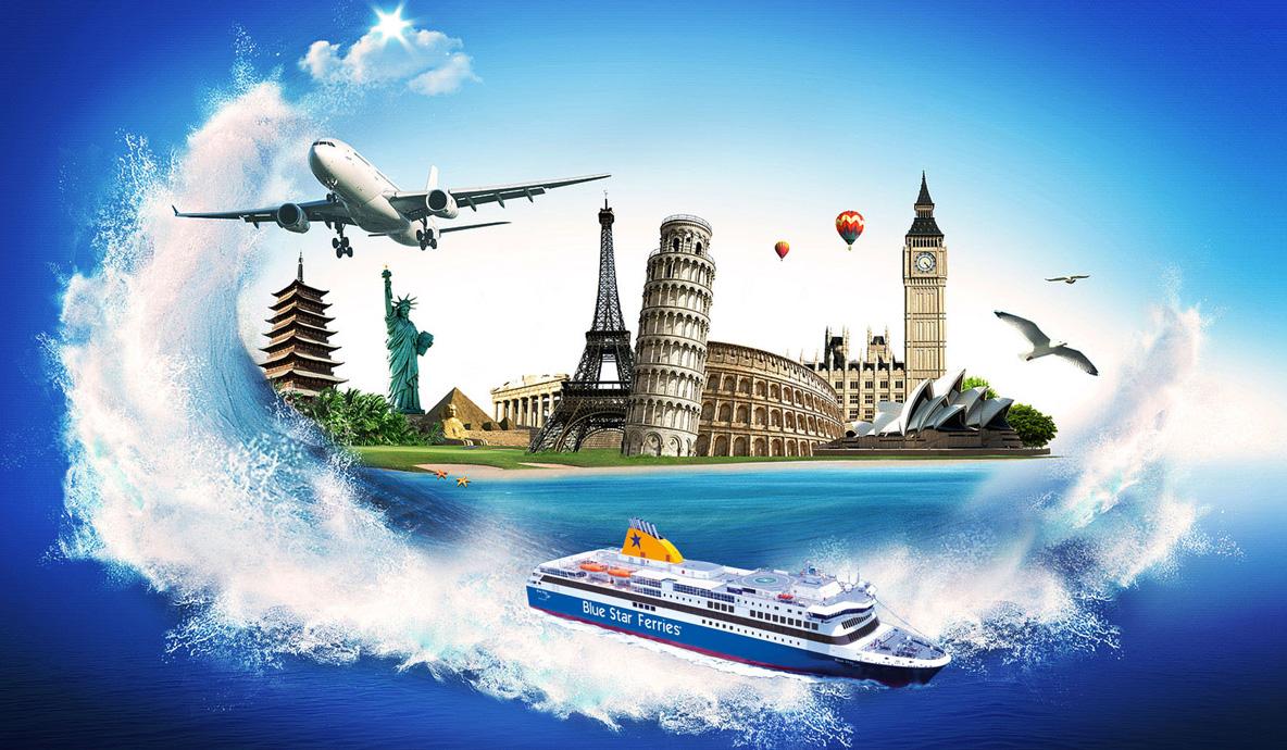 ship tour travel advetisement