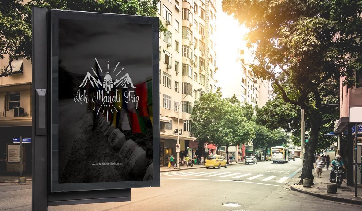 Leh Manali Trip Roadside Poster