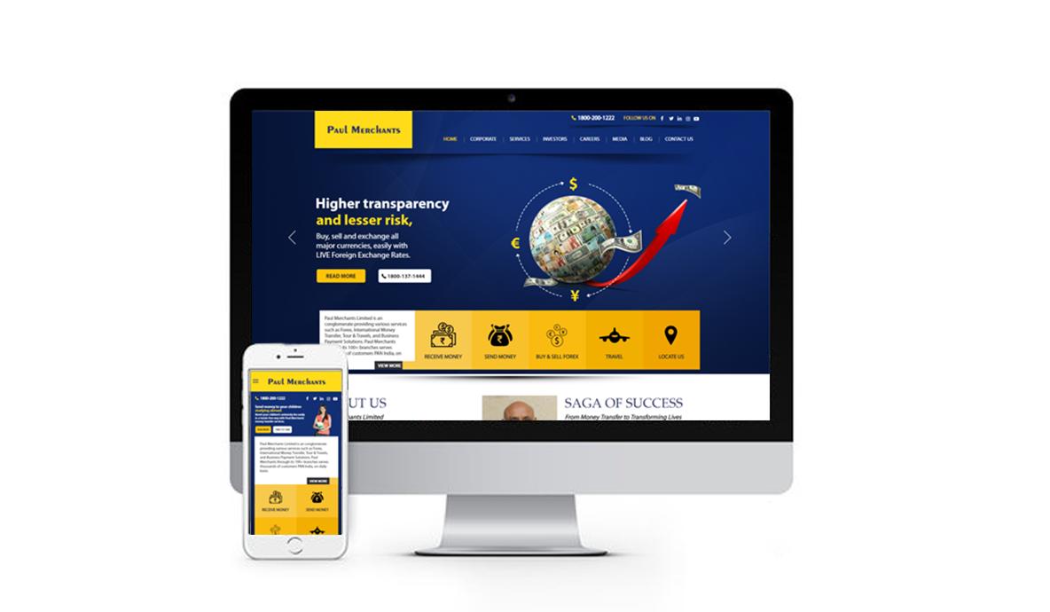 Paul Merchants Website Design